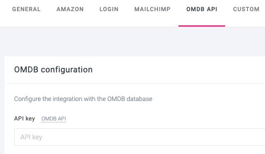 OMDB importation API